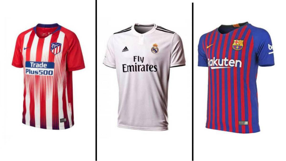 4254c27037e27 Equipaciones de Fútbol Oficiales Temporada 17-18 vs 18-19. La liga Santander