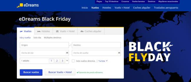 a28b974365 eDreams tiene ofertas para el Black Friday y el Cyber Monday