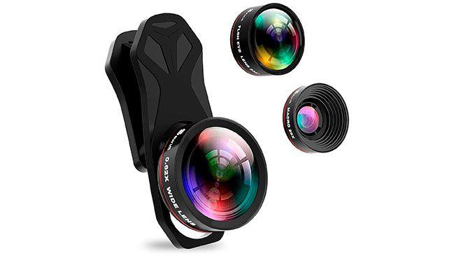 Kit de lentes para smartphone