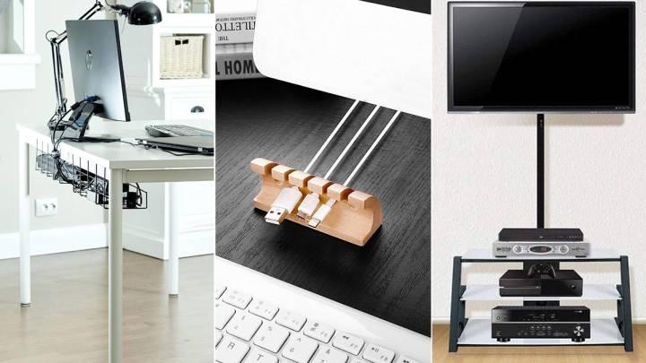 Organizador de cables para los pequeños electrodomésticos