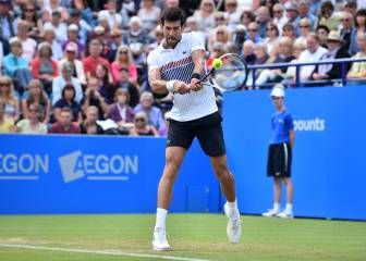 Novak Djokovic disputará la final de Eastbourne ante Monfils