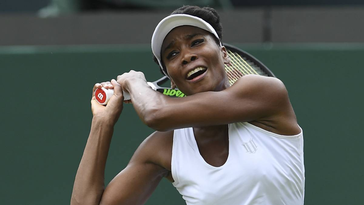 Venus Williams, en Wimbledon.