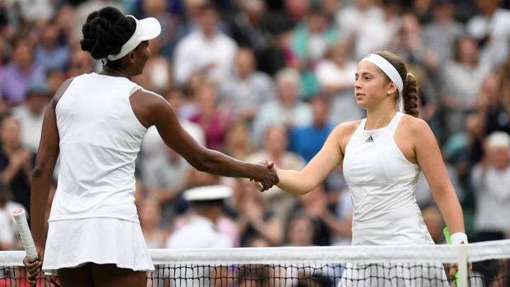 Venus Williams y Jelena Ostapenko.