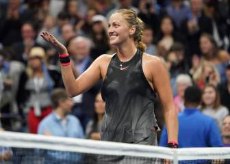 Kvitova stuns Muguruza to reach US Open quarter-finals