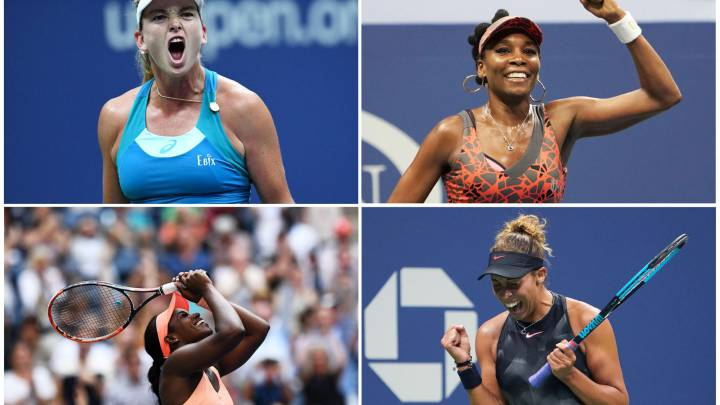 Coco Vandeweghe, Venus Williams, Sloane Stephens y Madison Keys.