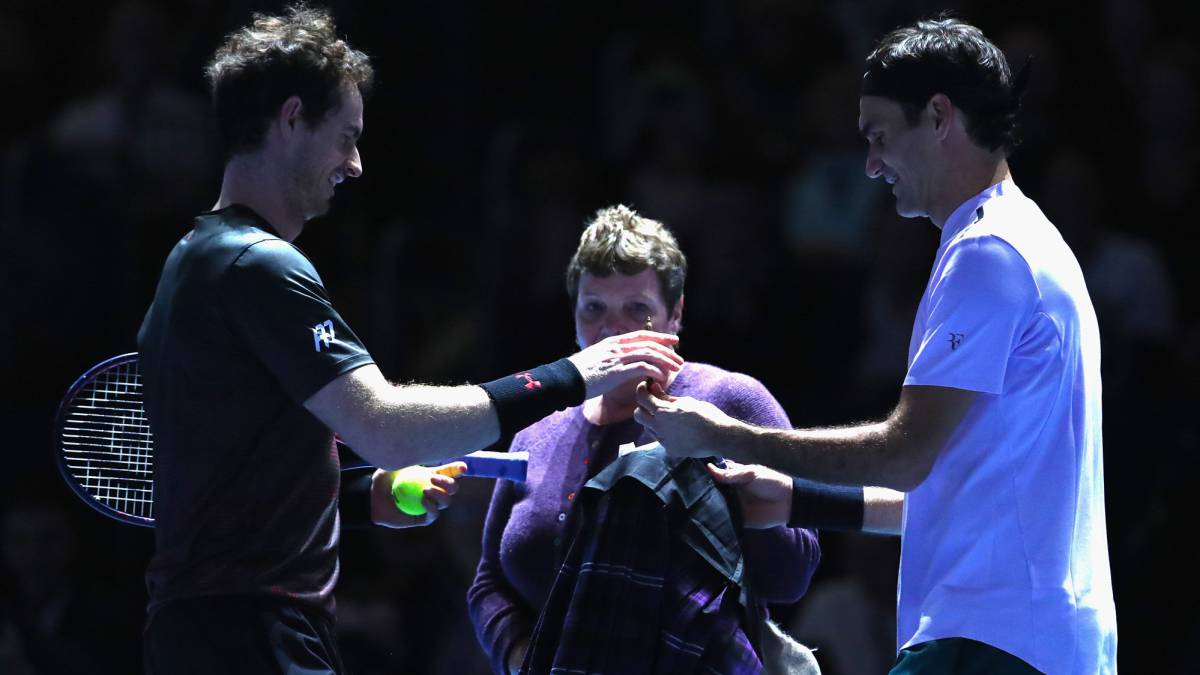 Andy Murray y Roger Federer.