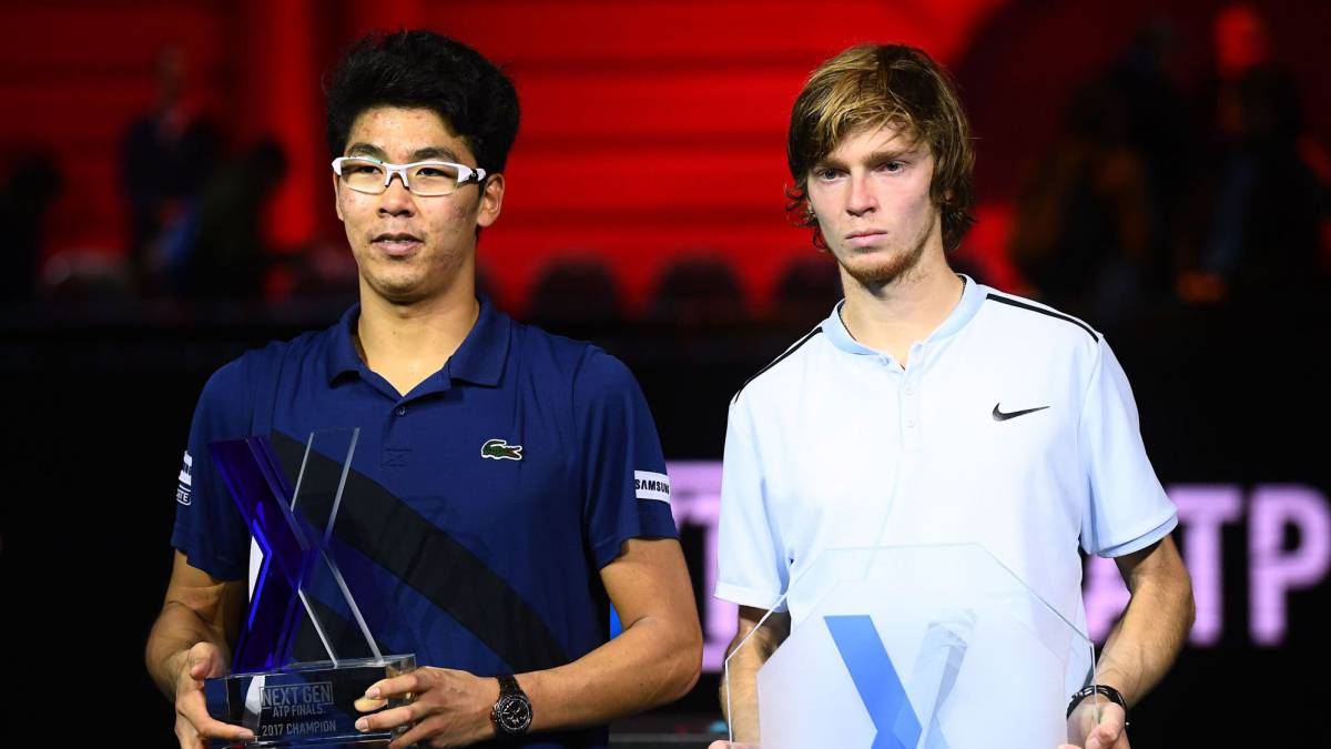 Hyeon Chung y Andrey Rublev.