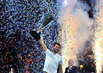 Dimitrov defeats Goffin to win ATP Finals in London