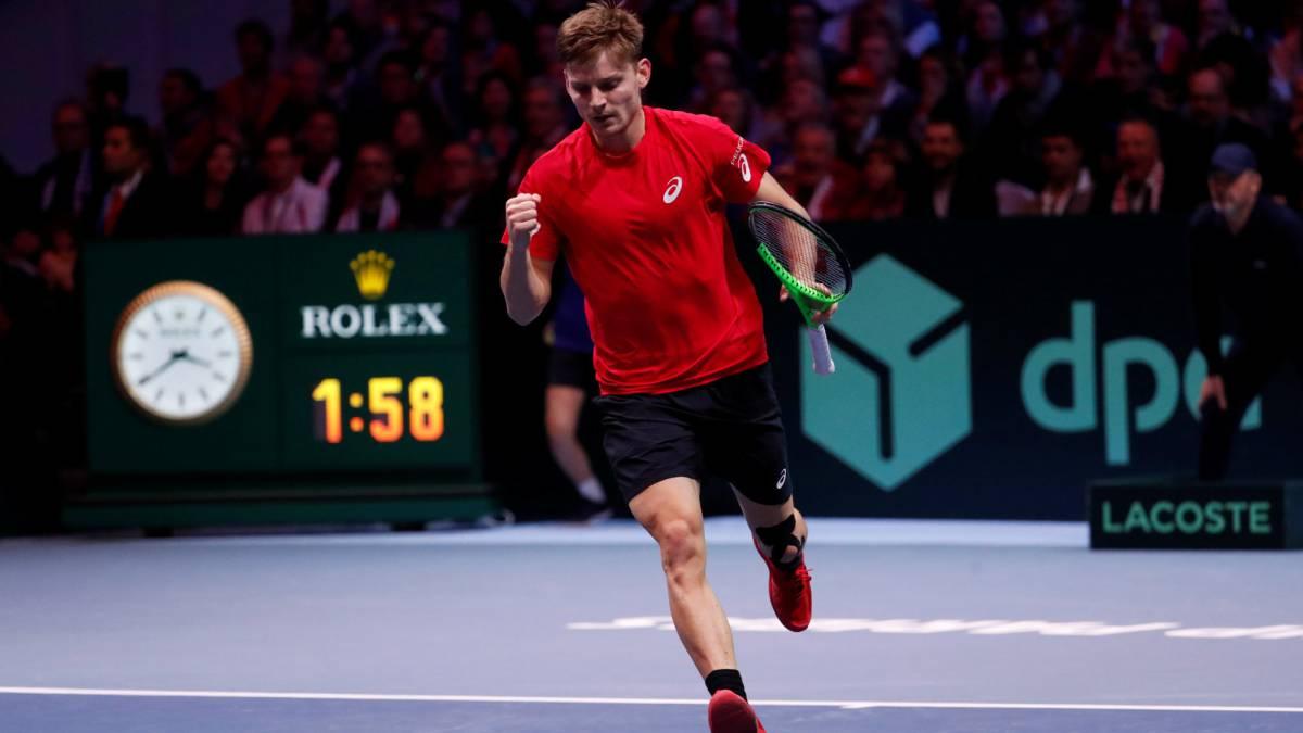 Goffin gana a Tsonga y fuerza el quinto partido de la Copa Davis.