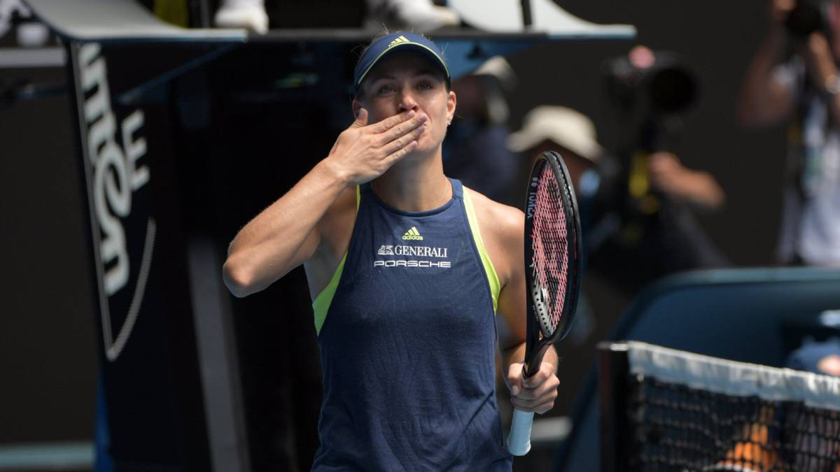 Angelique Kerber celebra su victoria ante la estadounidense Madison Keys.