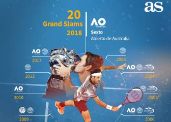 Roger Federer's 20 Grand Slams in one graphic to frame