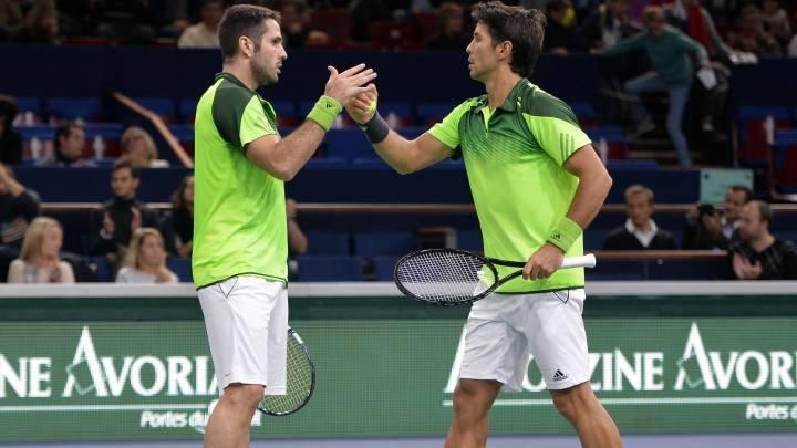496165a7cb David Marrero y Fernando Verdasco durante un partido de dobles.