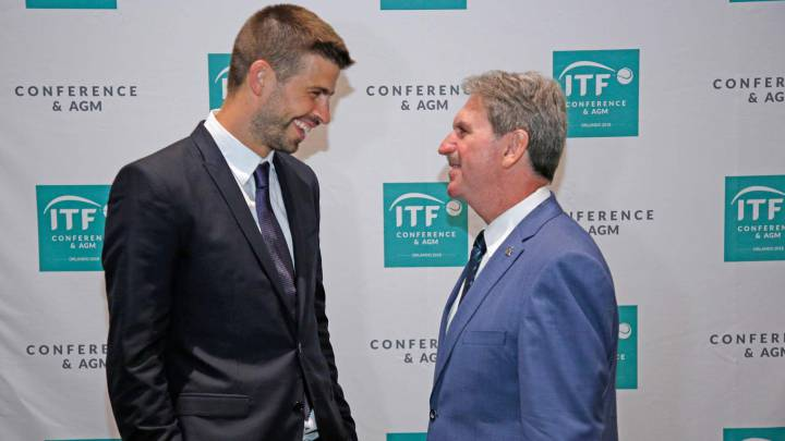 Gerard Piqué y David Haggerty.