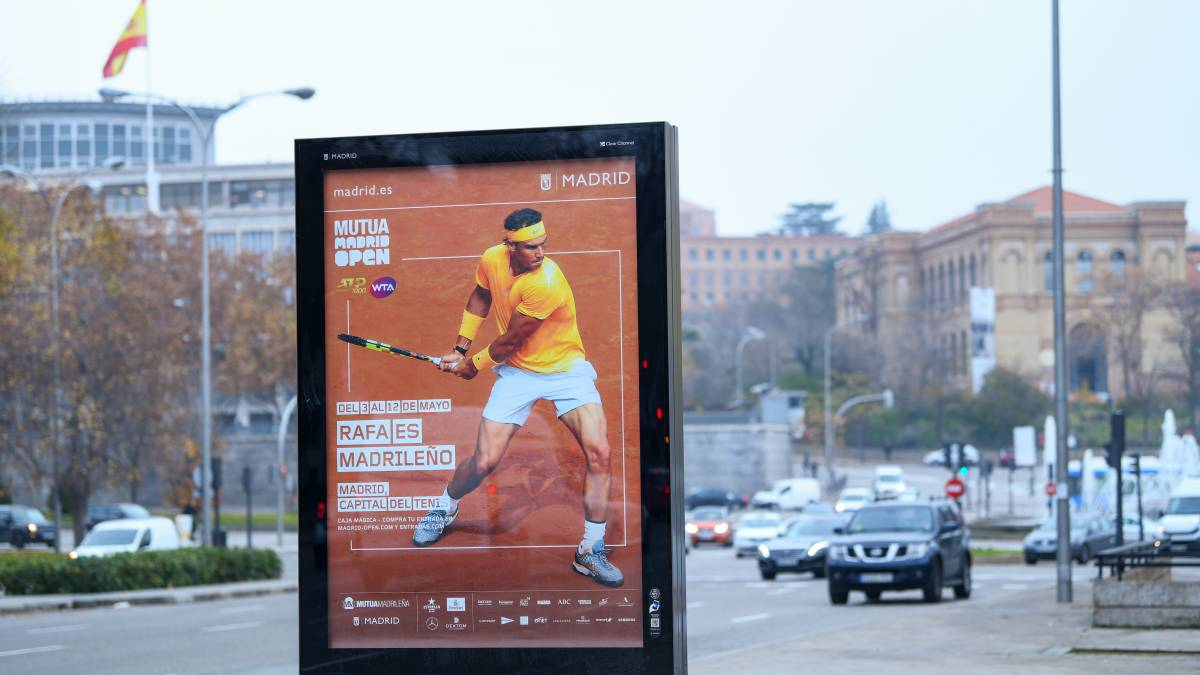 Cartel del Mutua Madrid Open 2019 con Nadal