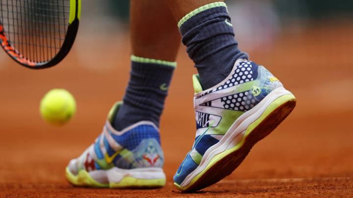 Nadal lució en Roland Garros unas zapatillas con sus 11