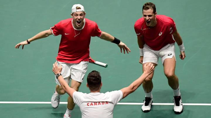 Shapovalov y Pospisil meten a Canadá en las semifinales