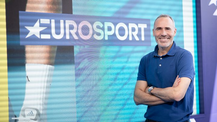 Former Eurosport tennis player and commentator Álex Corretja poses for an interview.