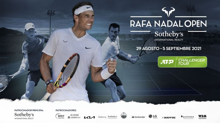Promotional poster for the Rafa Nadal Open Sotheby's International Realty, ATP Challenger Tour tournament.