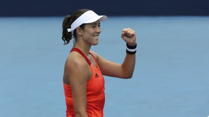 Garbiñe Muguruza in one of his matches at the Tokyo 2020 Olympic Games.