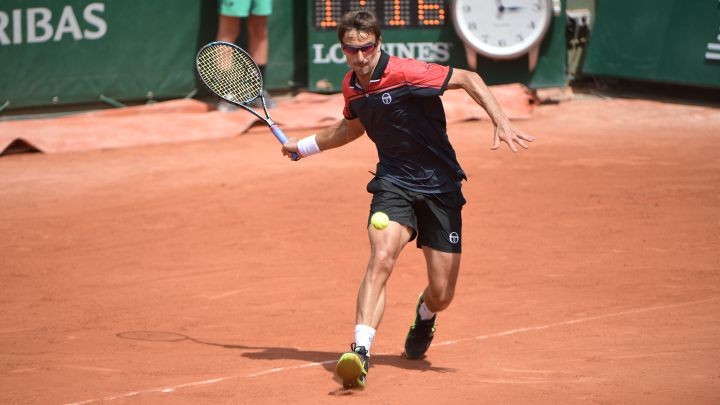 Spanish tennis player Tommy Robredo, during a match at Roland Garros in 2017.