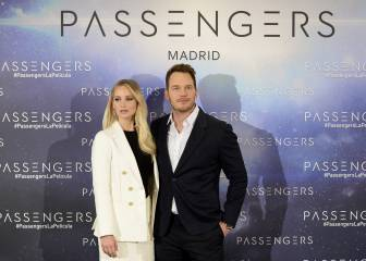 Jennifer Lawrence y Chris Pratt presentan Passengers en Madrid