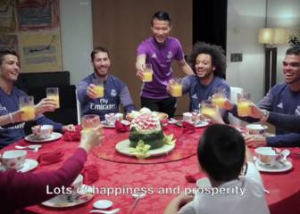 Chinese New Year: Real Madrid stars mark start of Year of Rooster