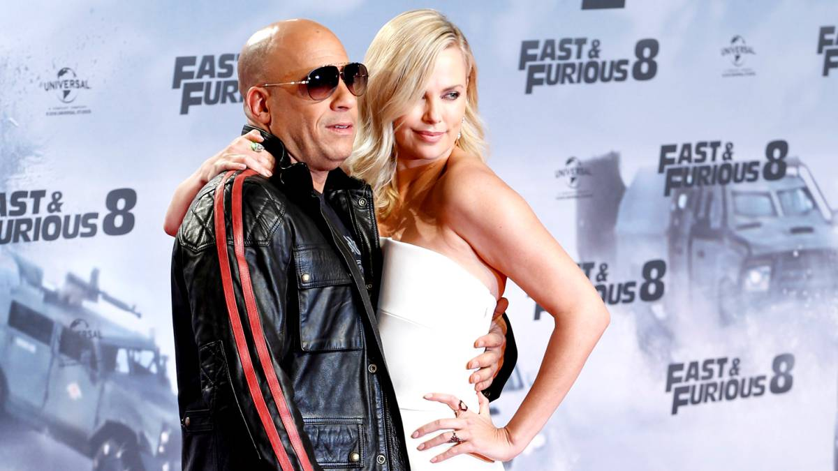Vin Diesel y Charlize Theron, protagonistas de Fast and Furious 8 con The Rock
