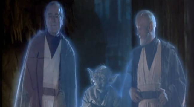 La famosa escena final (original) de 'Star Wars', en la que Luke ve a sus maestros fallecidos