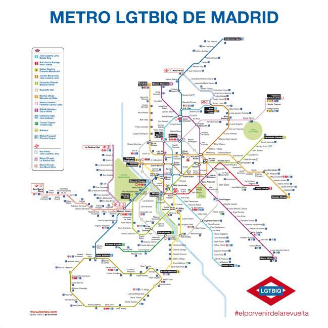 As sera el Metro de Madrid en homenaje al Orgullo Gay