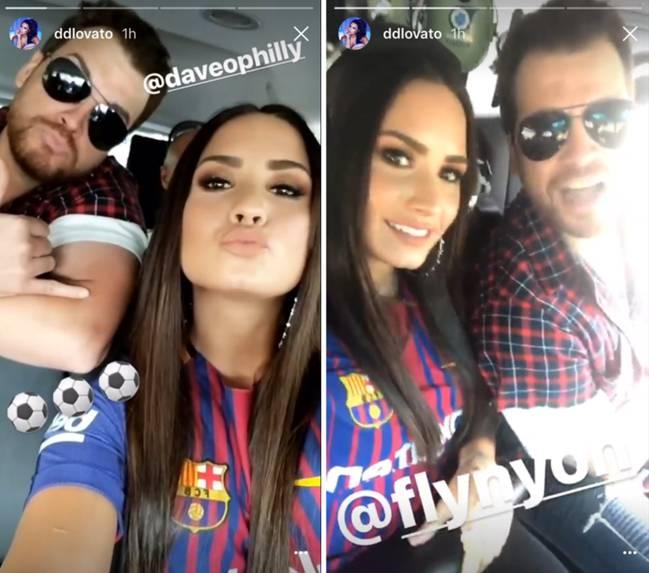 Demi Lovato Viajando A Ver El Barca Juventus De Pretemporada Fotos Instagram Stories