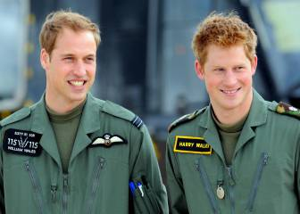 Los príncipes Harry y William, cameos