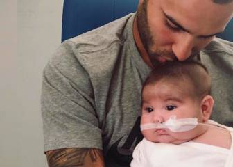 Emotional message from Jese to premature baby and partner