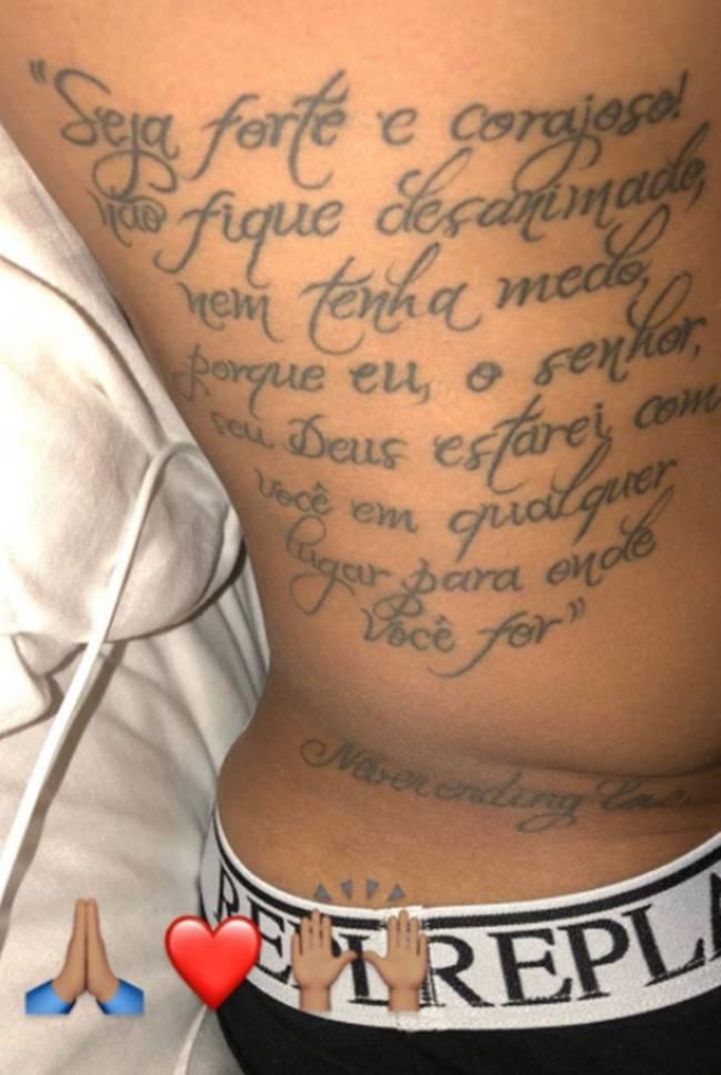 La Frase Motivacional Y Religiosa Que Se Ha Tatuado Neymar Ascom