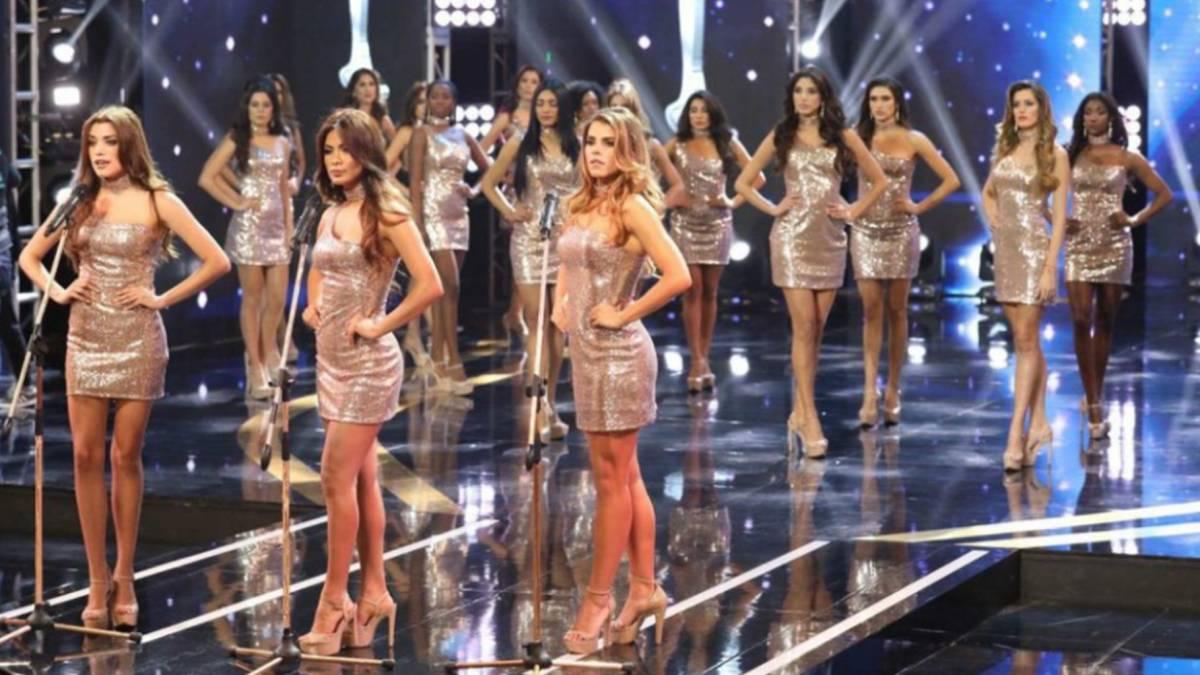 Imagen de las 23 aspirantes a Miss Perú 2018 durante su denuncia viral contra la violencia de género. Foto Twitter