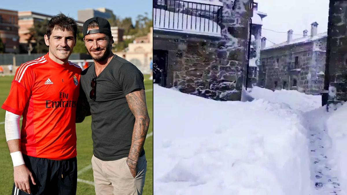 "Casillas invita a su pueblo a Beckham: ""¡Very very cold!"""
