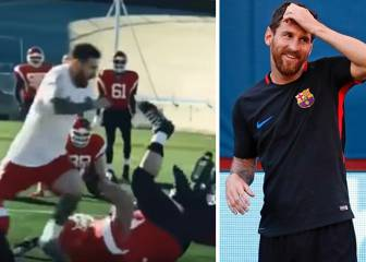 Messi's viral spot sees him body swerve a dog!