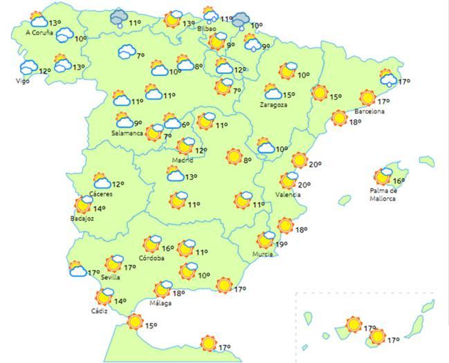 check out 99397 37e0e Mapa meteorológico del sábado 31 de marzo   ELTIEMPO.ES