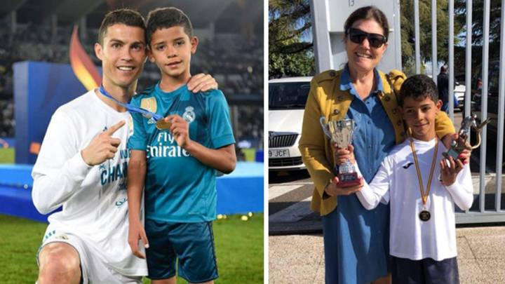 Cristiano Ronaldo Salutes His Son After He Wins School