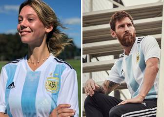Argentina women's players livid as model presents new kit