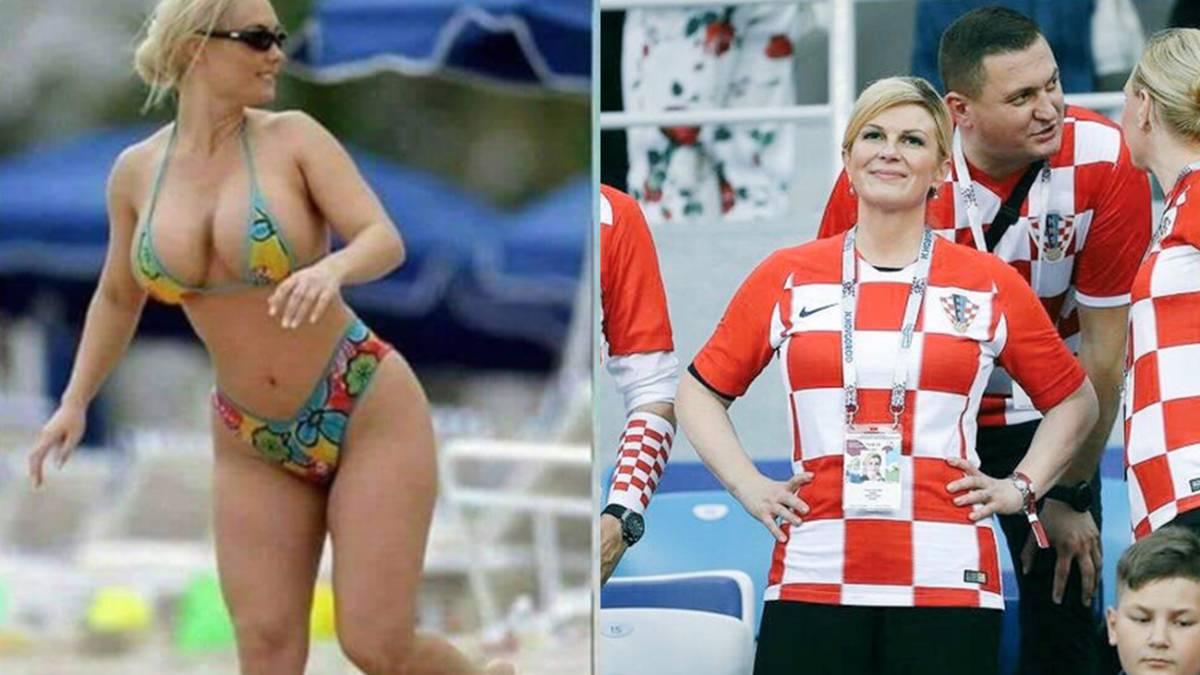 La presidenta croata víctima de una noticia falsa, una foto viral en bikini.