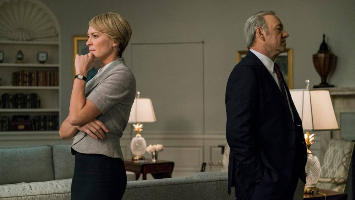 Robin Wright y Kevin Spacey en House of cards.