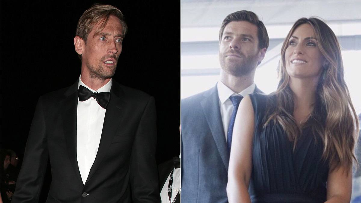 'I'm in here, lads' - The day Peter Crouch met Xabi Alonso's wife