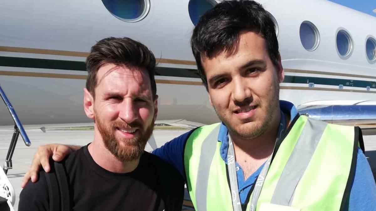 Messi, de vacaciones en Argentina con su espectacular avión privado