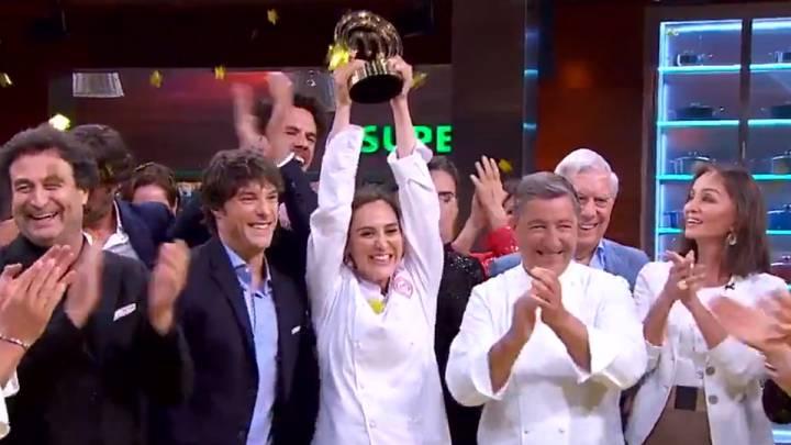 Tamara Falco Ganadora De Masterchef Celebrity Con Isabel Preysler De Testigo As Com