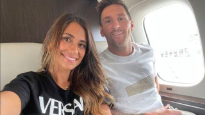 Messi llega a París y Antonella deja un mensaje a todos - AS.com