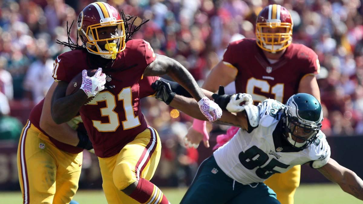 Los Redskins corren y paran la carrera para ganar a Eagles