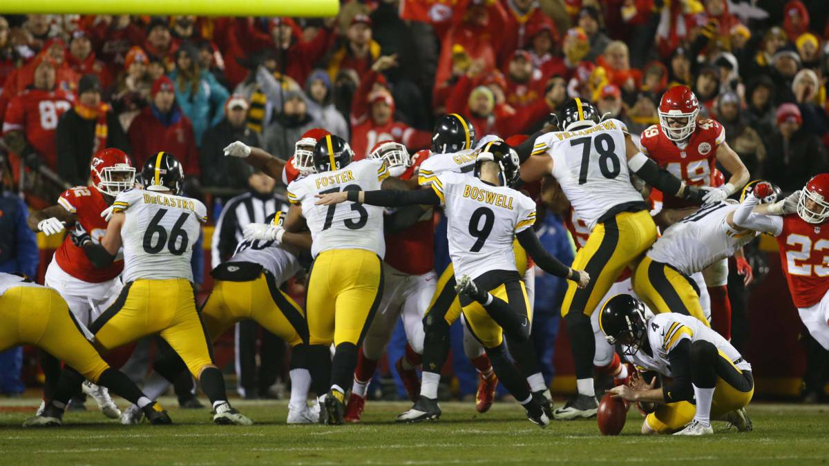 Los Steelers, a la final de la AFC con Bell, Brown... y Boswell