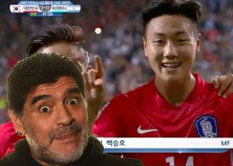 El tremendo 'in your face' de Paik Seung-Ho a Maradona