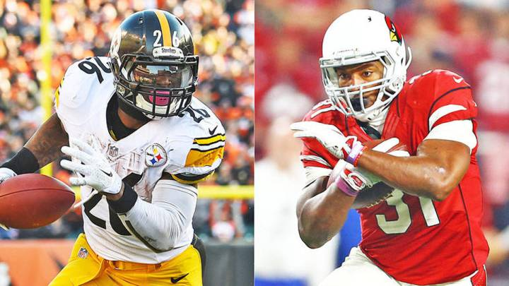 Le\'veon Bell, Pittsburgh Steelers y David Johnson, Arizona Cardinals.