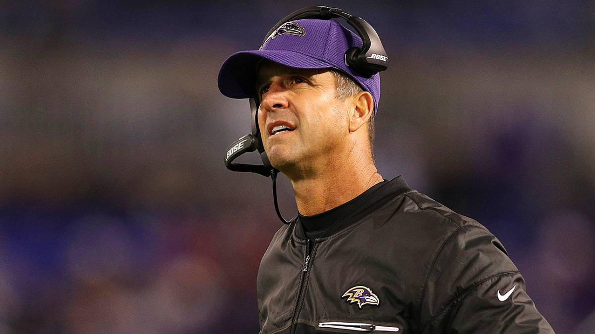 John Harbaugh, head coach de los Baltimore Ravens.